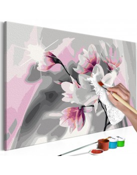Doe-het-zelf op canvas schilderen - Magnolia (Grey Background)
