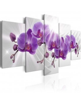 Schilderij - Abstract Garden: Purple Orchis