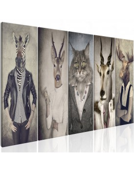 Schilderij - Animal Masks I