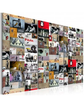 Schilderij - Art of Collage: Banksy III