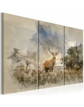 Schilderij - Deer in the Field I