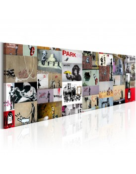 Schilderij - Art of Collage: Banksy II