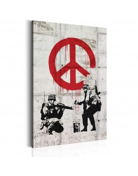 Schilderij -  Soldiers Painting Peace by Banksy