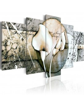 Schilderij - The Secret of Calla Lily - Grey