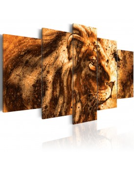 Schilderij - Beautiful Lion