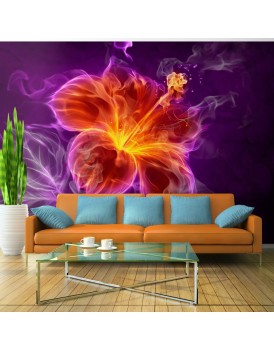 Fotobehang - Fiery flower in purple