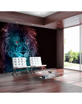 Fotobehang - Abstract lion - rainbow