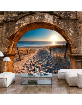 Fotobehang - Arch and Beach