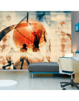Fotobehang - I love basketball!