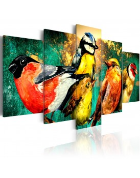 Schilderij - Birds Meeting