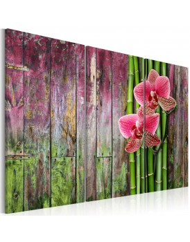 Schilderij - Flower and bamboo
