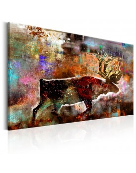 Schilderij - Colourful Caribou