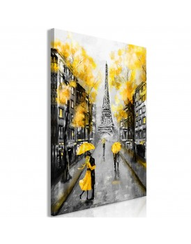Schilderij - Autumn in Paris (1 Part) Vertical