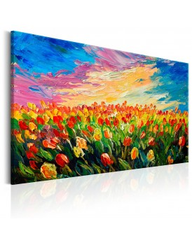 Schilderij - Sea of Tulips
