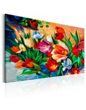 Schilderij - Art of Colours: Tulips