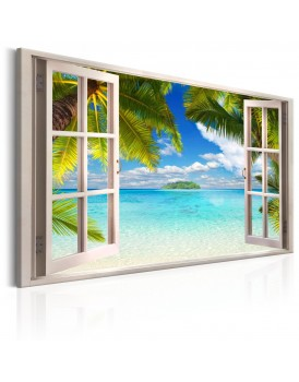 Schilderij - Window: Sea View
