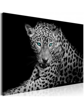 Schilderij - Leopard Portrait (1 Part) Wide