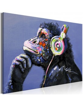 Schilderij - Musical Monkey (1 Part) Wide