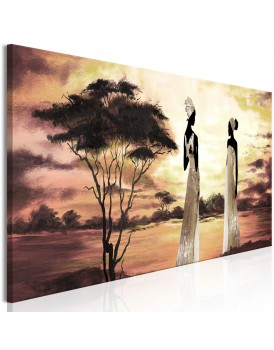 Schilderij - African Goddesses (1 Part) Narrow