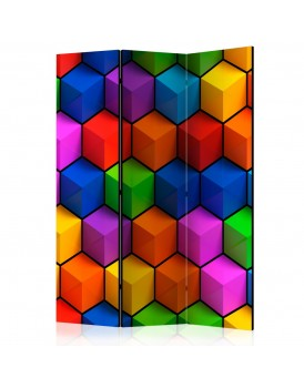 Vouwscherm - Colorful Geometric Boxes [Room Dividers]