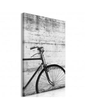 Schilderij - Bicycle And Concrete (1 Part) Vertical