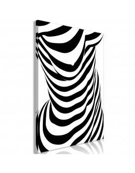 Schilderij - Zebra Woman (1 Part) Vertical