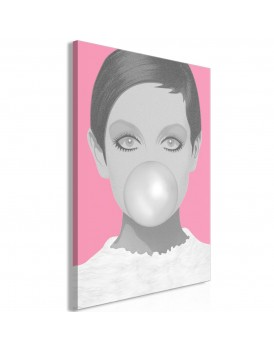 Schilderij - Bubble Gum (1 Part) Vertical