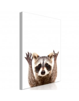 Schilderij - Raccoon (1 Part) Vertical