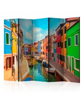 Vouwscherm -  Colorful Canal in Burano II [Room Dividers]