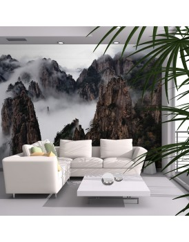 Fotobehang - Zee van wolken in Huangshan Mountain, China