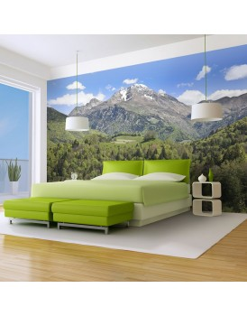 Fotobehang - Holiday in the mountains