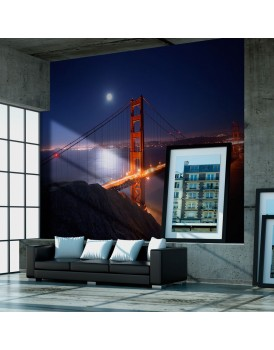 Fotobehang - Golden Gate Bridge at night