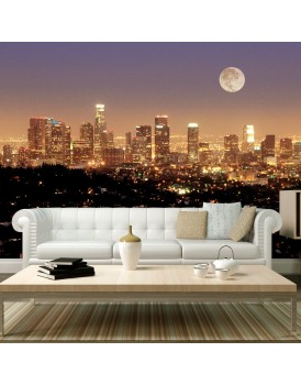Fotobehang - De maan over de City of Angels