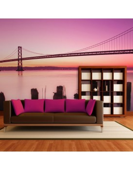 Fotobehang - Baai van San Francisco in violet, Californië