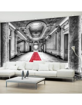 Fotobehang - Mystery marble - black and white
