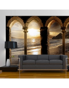Fotobehang - Castle on the beach