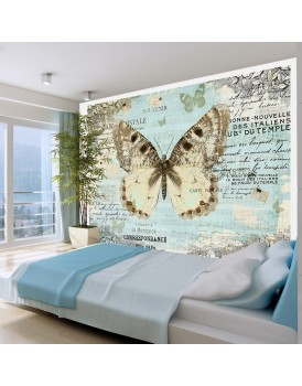 Fotobehang - Postcard with butterfly