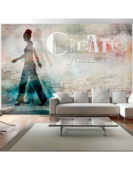 Fotobehang - Create yourself