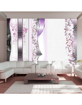 Fotobehang - Parade of orchids in violet