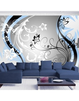 Fotobehang - Art-flowers (blue)