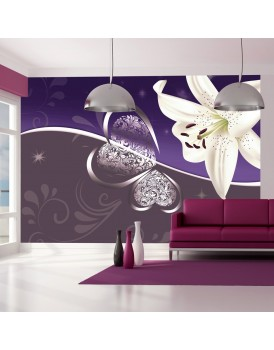 Fotobehang - Lily in shades of violet