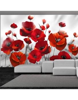 Fotobehang - Poppies in the Moonlight