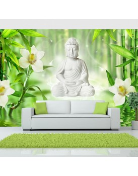 Fotobehang - Buddha and nature