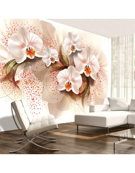Fotobehang - Pale yellow orchids
