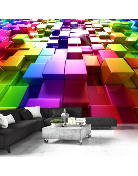 Fotobehang - Colored Cubes