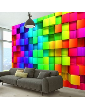 Fotobehang - Colourful Cubes