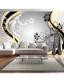 Fotobehang XXL - Art-flowers (yellow)