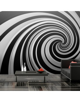 Fotobehang XXL - Black and white swirl