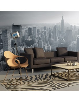 Fotobehang XXL - New York City skyline in zwart en wit