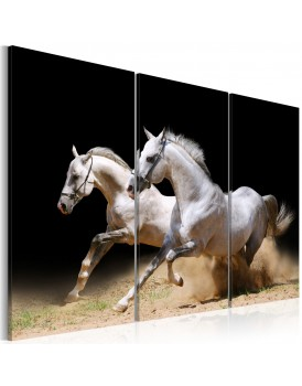 Schilderij - Horses- power and velocity